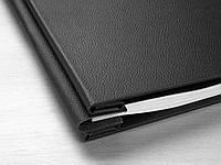 Кожаная обложка для альбома Hahnemuhle, черная с красной прошивкой и мягкой подбивкой с набором для крепления бумаги, А4