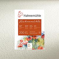 Бумага акварельная Hahnemuhle 200 (200 г/м²) CP, 17 х 24 см, 20 листов, склейка