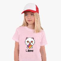 Детская футболка для девочек Лайк (Likee) (25186-1036) Розовый, фото 1