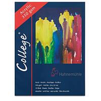 Бумага для масла и акрила Hahnemuhle College® 350 г/м², 24 x 32 см, 10 листов, альбом