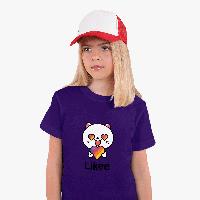 Детская футболка для девочек Лайк (Likee) (25186-1036) Фиолетовый, фото 1