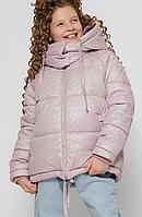 Зимова куртка на дівчинку люрекс, на зростання 110-158