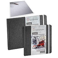 Скетчбук для акварели Hahnemuhle Toned Watercolour Book 200 г/м², А6 (альбомная ориентация), 60 страниц, серый