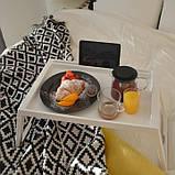 Переносний столик – піднос зі складними ніжками для ноутбука IKEA KLIPSK білий 002.588.82, фото 4