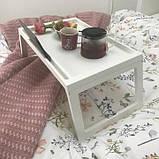 Переносний столик – піднос зі складними ніжками для ноутбука IKEA KLIPSK білий 002.588.82, фото 6