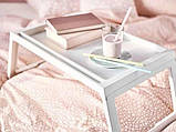 Переносний столик – піднос зі складними ніжками для ноутбука IKEA KLIPSK білий 002.588.82, фото 5