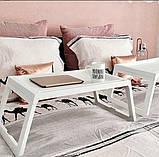 Переносний столик – піднос зі складними ніжками для ноутбука IKEA KLIPSK білий 002.588.82, фото 7