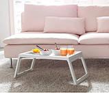 Переносний столик – піднос зі складними ніжками для ноутбука IKEA KLIPSK білий 002.588.82, фото 9