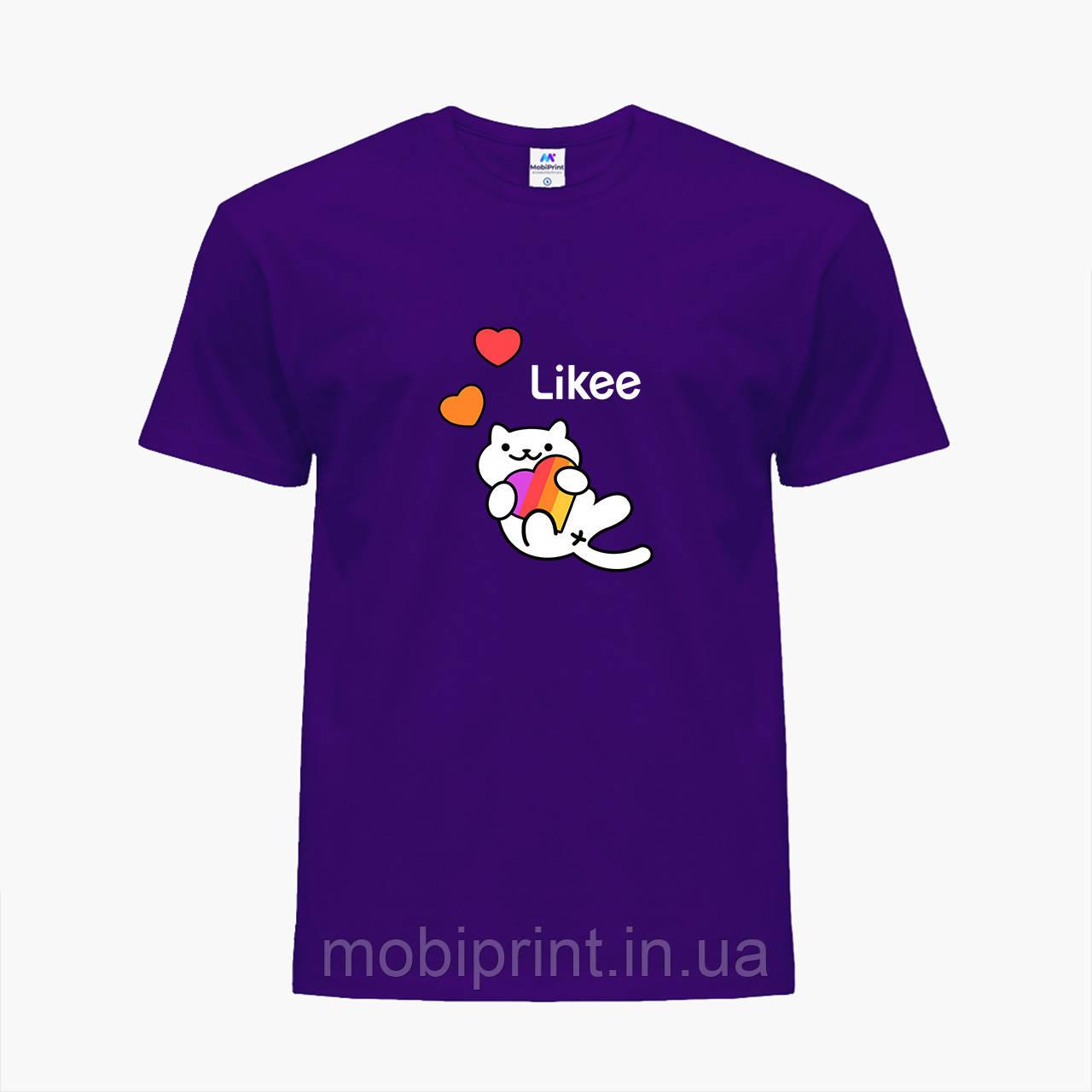 Детская футболка для девочек Лайк (Likee) (25186-1039) Фиолетовый