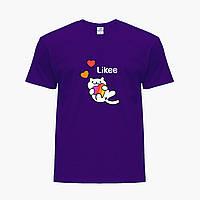 Детская футболка для девочек Лайк (Likee) (25186-1039) Фиолетовый, фото 1