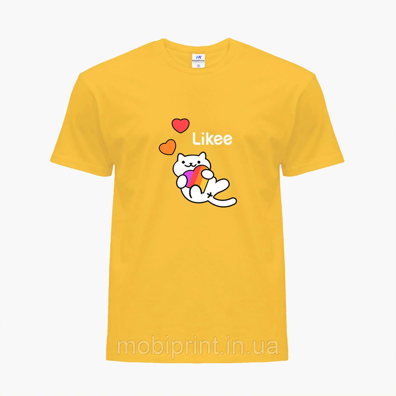 Детская футболка для девочек Лайк (Likee) (25186-1039) Желтый