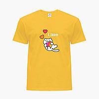 Детская футболка для девочек Лайк (Likee) (25186-1039) Желтый, фото 1