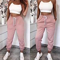 Женские стильные спортивные брюки , пояс на резинке с шнурком,с двумя карманами(42-48)