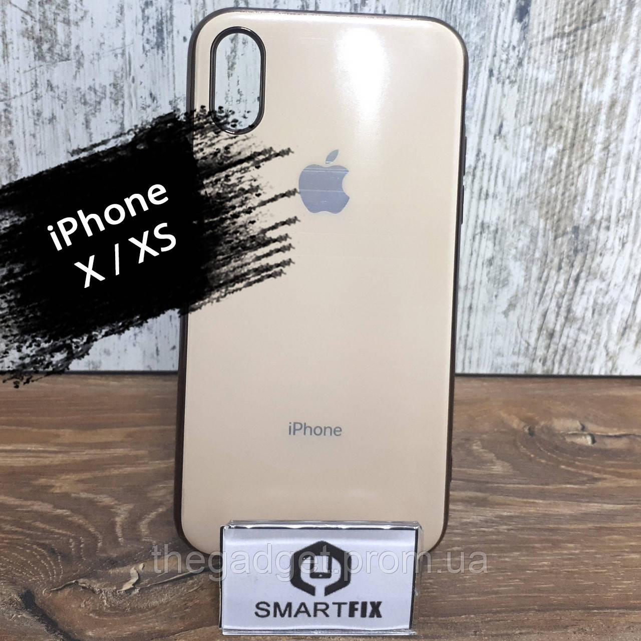 Силиконовый чехол для iPhone X / XS Glossy Logo Stone