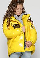 Пухова куртка на дівчинку-підлітка, на зростання 110-158