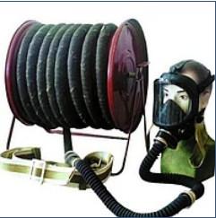 Противогаз шланговый ПШ-2 20метров с Маской ППМ и компрессор
