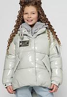 Пухова куртка дитяча на дівчинку на ріст 110-158