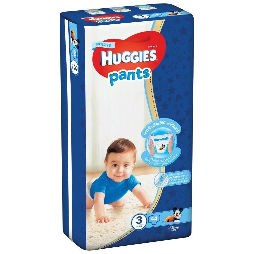 Детские подгузники-трусики Huggies  Pants 3 (4-9 кг) 44 шт. BOY