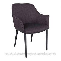 Кресло MILTON (51*61*78 cm текстиль) черный баклажан, Nicolas