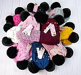 М 94061. Комплект зимний для девочки шапка и манишка , разные цвета (3-12 лет), фото 6
