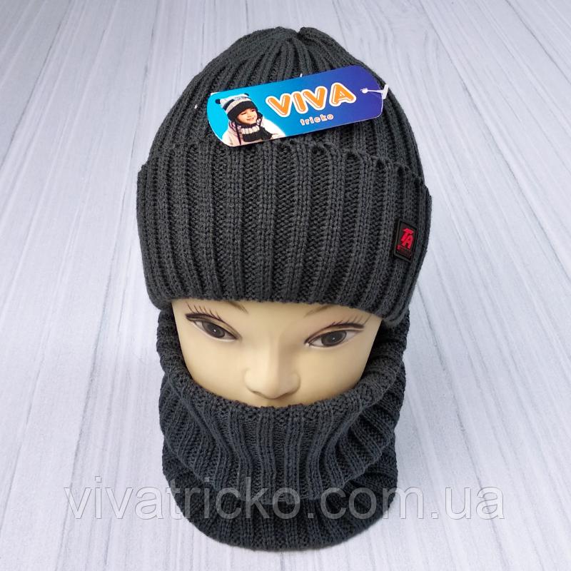 М 94068 Комплект для хлопчика шапка на флісі і снуд, різні кольори(3-12 років)