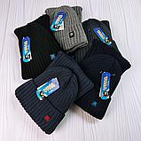 М 94068 Комплект для хлопчика шапка на флісі і снуд, різні кольори(3-12 років), фото 5
