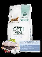 Optimeal (Оптимил) сухой корм для взрослых кошек С треской 10 кг