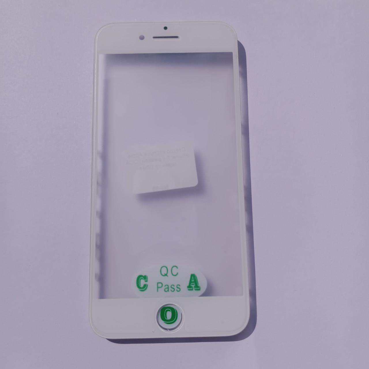 Скло корпусу Novacel для Apple iPhone 7 з рамкою OCA плівкою White