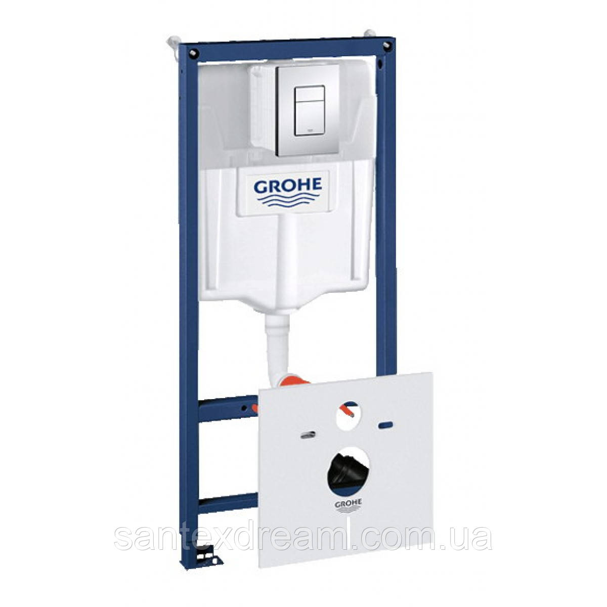 Инсталяция для подвесного унитаза GROHE RAPID SL 4 в 1, 38775001