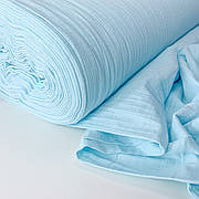 Муслин жатый 2-х слойный голубой 170 см
