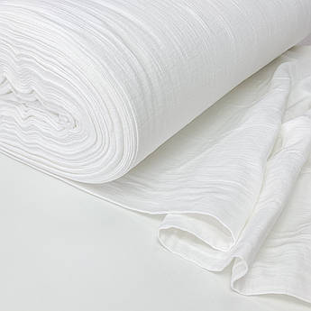 Муслин жатый 2-х слойный белый 170 см