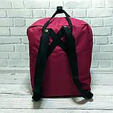 Комплект рюкзак, сумка + органайзер Fjallraven Kanken Classic, канкен класик. Бордовый с черным, фото 7