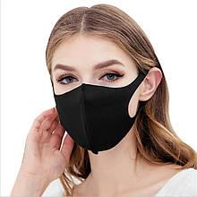 Многоразовая маска Pitta, питта. Неопрен (3-х слойный). Черная.