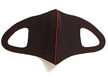 Многоразовая маска Pitta, питта. Неопрен. Черная с красным.