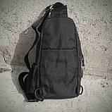 Тактическая сумка-рюкзак, барсетка, бананка на одной лямке, черная. + USB выход, фото 3