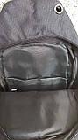 Тактическая сумка-рюкзак, барсетка, бананка на одной лямке, черная. + USB выход, фото 5