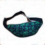 Поясная сумка, Бананка, барсетка конопля. Cannabis, фото 3