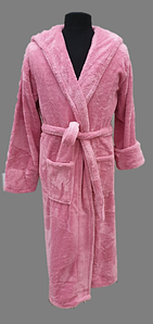 Халат махровий жіночий довгий c капюшоном Welsoft (TM Zeron) рожевий, Туреччина