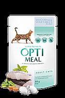 Optimeal (Оптимил) консерва для дорослих кішок З тріскою і овочами в желе 85 г/12шт
