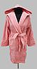 Халат жіночий махра/велюр короткий з капюшоном З/М, Л/ХЛ ( TM Gursan), бузковий Туреччина, фото 2