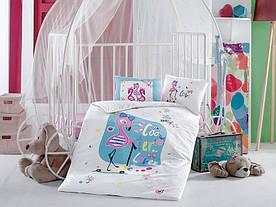 Постельное белье в детскую  кроватку 100*150 Ranforceк (TM Aran Clasy) Domina , Турция