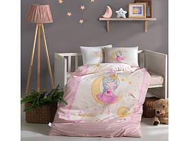 Постельное белье в детскую  кроватку 100*150 Ranforce (TM Aran Clasy)  Moon, Турция