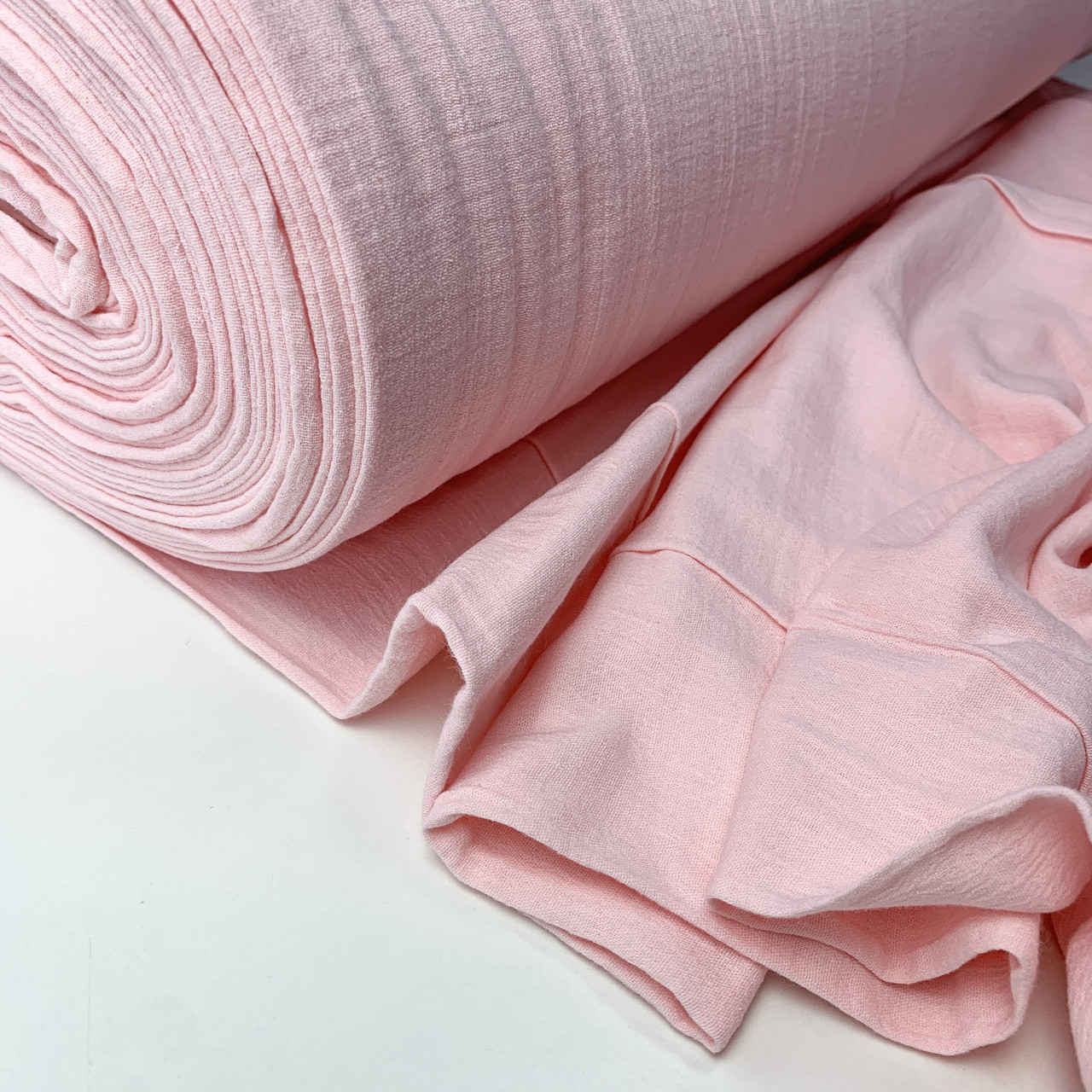 Муслин жатый 2-х слойный розовый 170 см