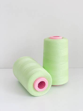 Нитка швейна 40/20 зеленый 4000 ярдов, фото 2