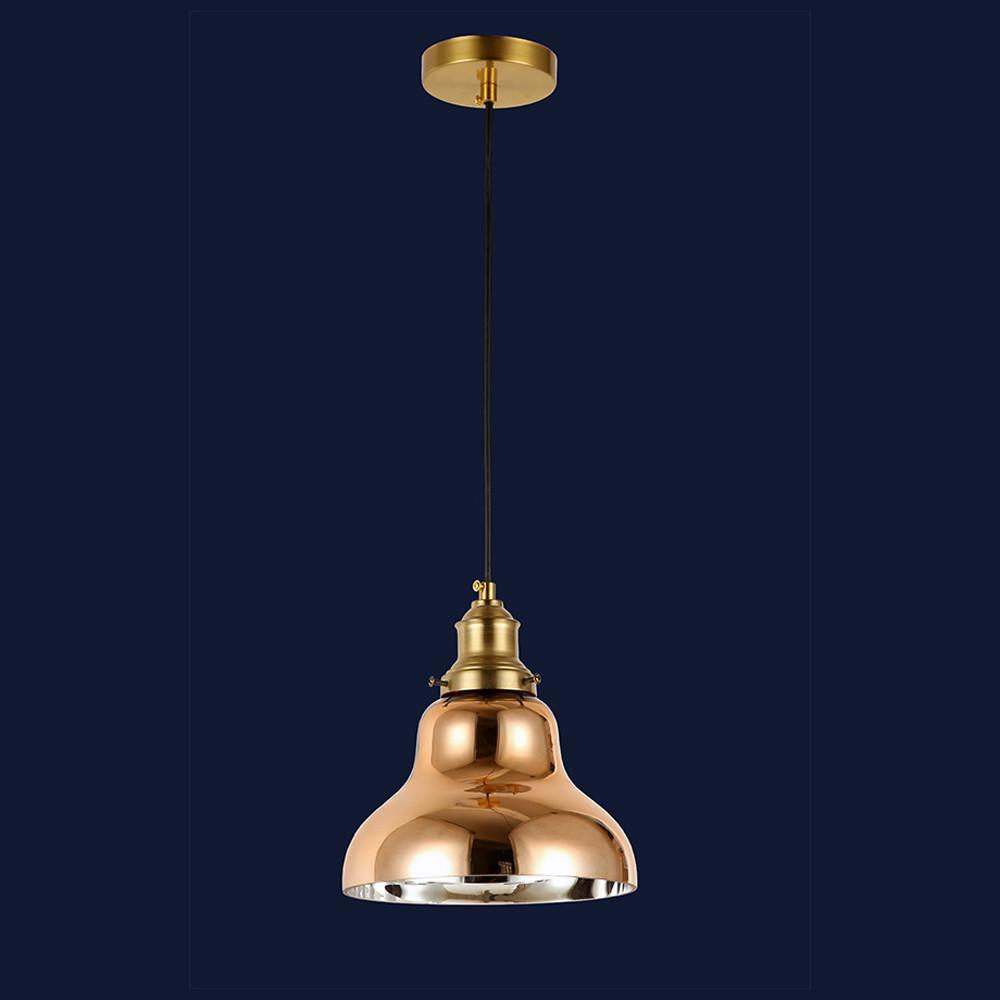 Подвесной стеклянный светильник цвет розовое золото Levistella&91602-1 RGD