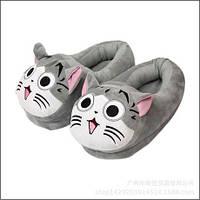 Плюшевые тапочки игрушки кот Чи