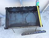 Мангал складаний зі сталі 3мм на 8 шампурів, фото 3