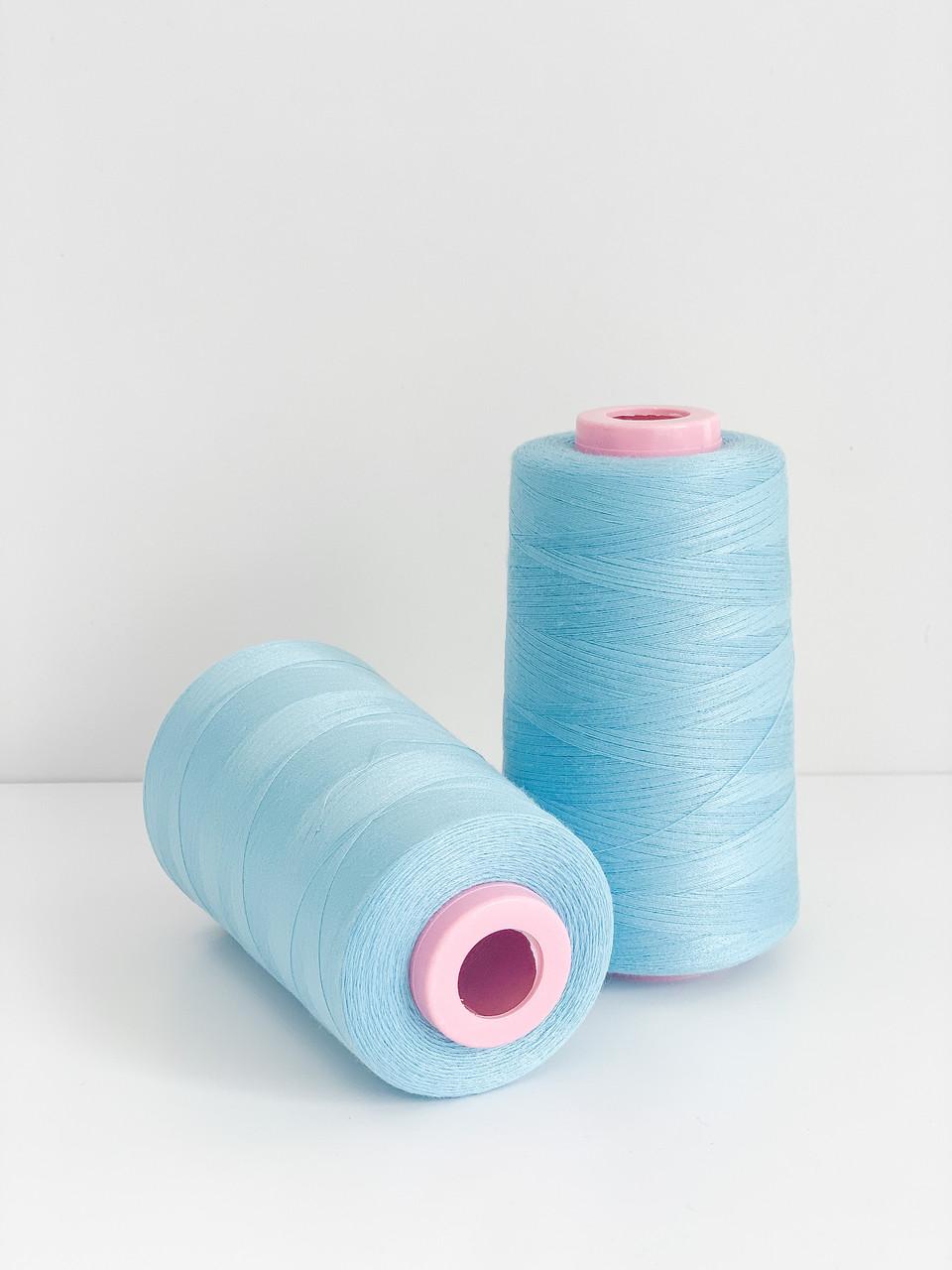 Нитка швейна 40/20 голубой 4000 ярдов
