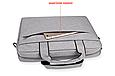 Мужская сумка портфель для документов - темно-серый, фото 7