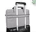 Мужская сумка портфель для документов - темно-серый, фото 8